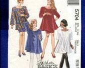 McCall's 5704 Trapeze Tunics Leggings & Pencil Skirt Pattern Size XL 22/24 UNCUT