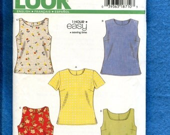 New Look 6483 Easy Breezy Tees & Tank Tops Size 6 to 16 UNCUT