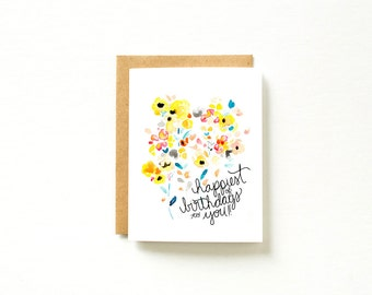 Watercolor Birthday Card, Happy Birthday Card, Birthday Card Set, Watercolor Cards, Card Set, Birthday Cards for Her