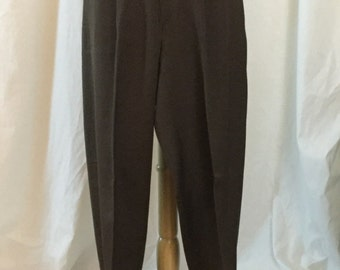 NOS Vintage 50s/60s Brown Men's Gabardine Trousers Slacks