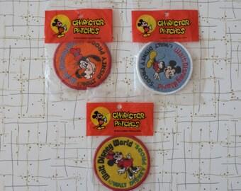 70's Disney World Patches Disney Mickey Mouse Minnie Goofy Souvenir Patch Pin