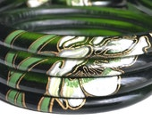 Four Perrier-Jouët Stacking Bangles | Upcycled Champagne Bottle Jewelry