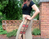 Tribal Womens Maxi Skirt Slit Sides With Back Lace In 5 Colors - Lea