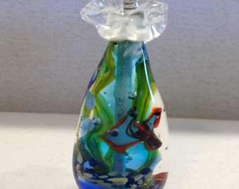 Glass Fish-in-a-bag pendant