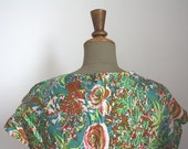 FLORAL DRESS // Vintage handmade dress.