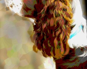 Custom English Springer Spaniel Digital Painting