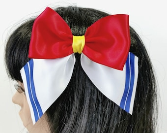 Moon Sailor Bow-Hair accessories-Japanese Accessories-Sailor-Christmas Gift-Cosplay-Birthday Gifts-Barrette-Barrette Bow-Harajuku-Anime