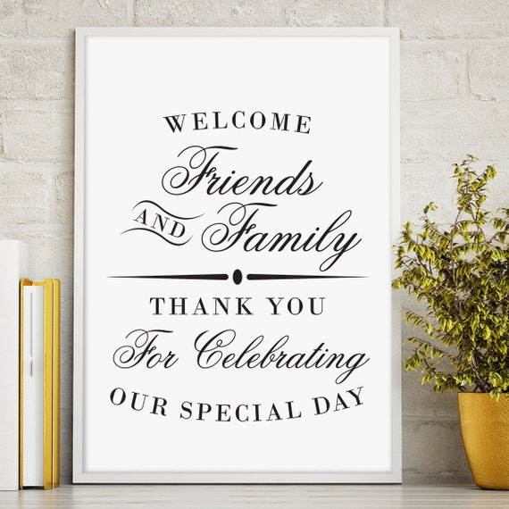 Printable Welcome Sign Wedding Reception Sign Welcome From