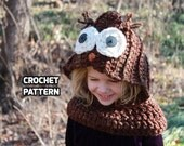 CROCHET PATTERN - Owl Hooded Cowl (Toddler, Child, Adult) - Sell What You Make
