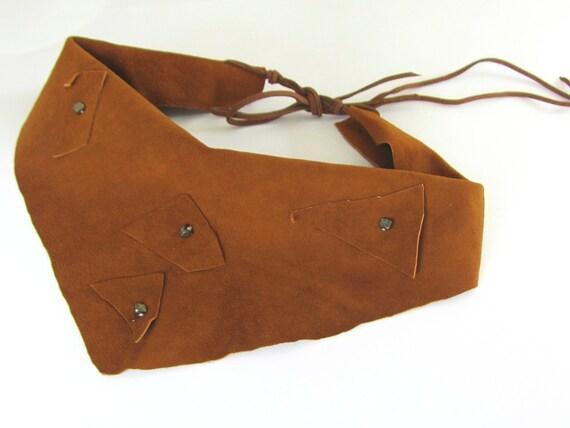 Dallas Cowboys scarf, Leather scarflette, Unisex Scarf, Rancher Western Scarf, Boho Cowgirl, Rocker