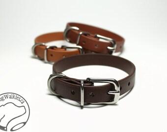 "Dark Chocolate Brown Little Dog Collar - 1/2"" (12mm) Thin Beta Biothane Dog Collars - Waterproof Small Dog Collar"