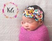 Boho Baby headband,  baby girl, headbands, newborn headband, baby girl, flower headband, baby accessories, headband for baby, baby