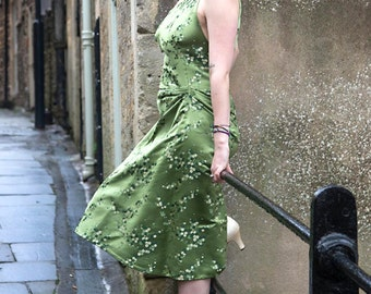 Green Chinese Silk Dress