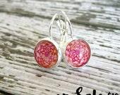Boho Mandala Earrings : Red Photo Jewelry