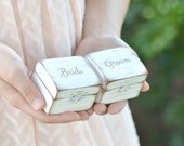 Bride & Groom's ring boxes • rustic ring box set