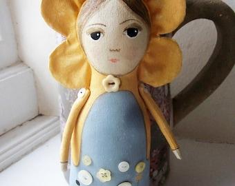 Flower fairy art doll, art doll, fairy.
