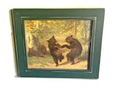Dancing Bears by William Holbrook Beard Framed Print Painted in 1870 Reproduction
