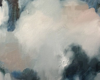 Original Oil Painting Pretty Blues I