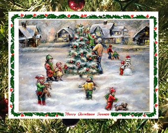 """Christmas greeting Card sets, Handmade Fun with Art Photo """"Merry Christmas Season"""" by Laurie Shanholtzer"""