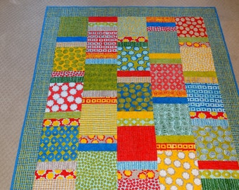 Modern Lap Quilt in Primary Colors