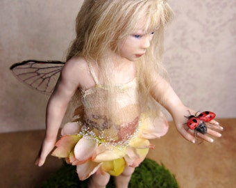 Lylia, OOAK Hand Sculpted Fantasy Fairy Art Doll Collectible
