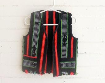 Vintage kids southwestern Aztec vest