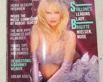 August 1986 PLAYBOY Magazine - Stallone's Leading Lady: Brigitte Nielsen