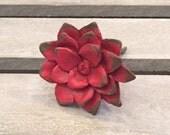 Red Flower Knob Farmhouse Style Drawer Pull Knob Cabinet Knob Dresser Knob