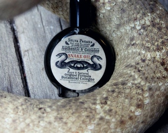 Natural perfume - dark amber clove cedarwood vetiver- SNAKE OIL - choose size