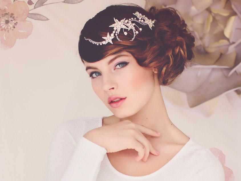 Astonishing Wedding Star Hair Jewelry Headpiece Spring Weddings Wedding Hairstyles For Women Draintrainus