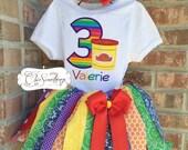 Doh tutu, doh birthday, dough shirt birthday, rainbow doh shirt play shirt, doh party first birthday tutu, doh tutu, doh inspired UD