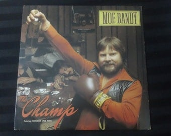 "Moe Bandy - The Champ - JC 36487 - 12"" vinyl lp, album (Columbia Records,1980) ~ 80s Country music"