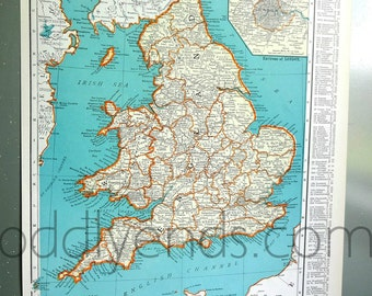 1939 England Atlas Map