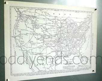 1939 Highway Automobile Routes Vintage Atlas Map