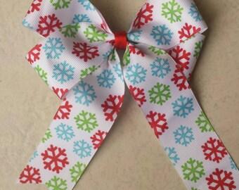 Snowflake Handmade Hair Bow
