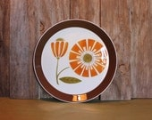 RESERVED Retro Mikasa Plate Porcelain Serving Platter Duplex Ben Seibel Brunch D3804 Japan Vintage 1970s 70s (L)