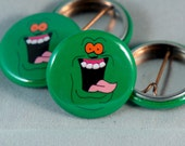 """Ghostbusters   Slimer   1"""" Buttons"""