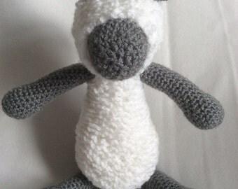 Crochet woolly Sheep, Lamb Handmade Animal Wool Soft Toy Gift
