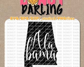 Instant Download: Alabama svg / eps / dxf / png - iron on -  Cutting File, Silhouette, Cricut, State Vector