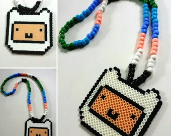 Finn Kandi Necklace - Adventure Time - Finn and Jake - Rave - Music Festival
