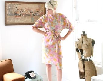 SALE Vintage Asymmetrical Ruffle Dress Size Medium - Large