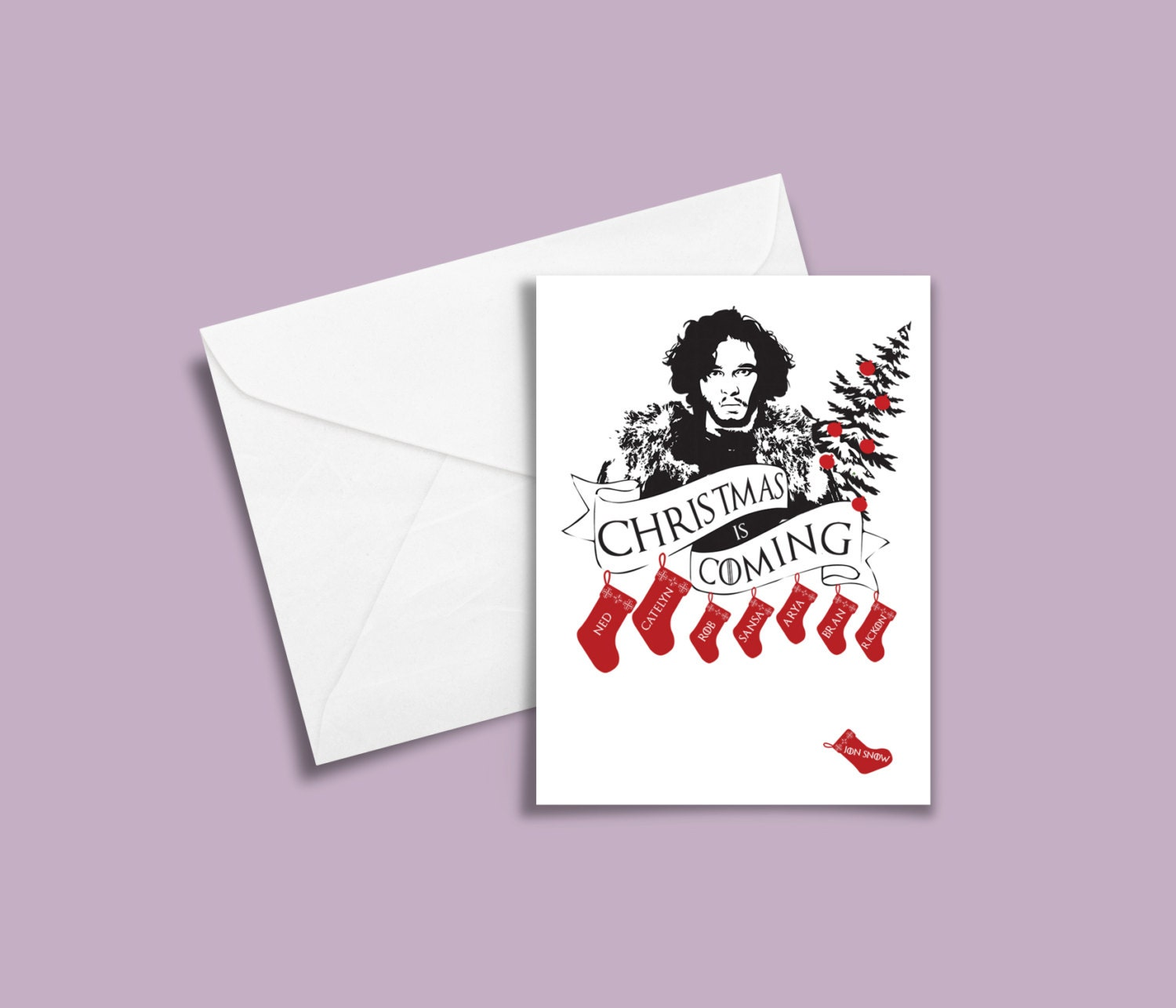 Game of Thrones Christmas Card Jon Snow