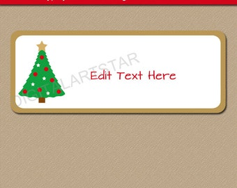 Return Address Labels   Christmas Address Labels   Holiday Address Label  Template   Christmas Download Address