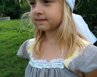 Grey Flower Girl Dress | Boho Flower Girl Dress | Grey Gauze Dress | Photo Shoot Dress | Ellie Ann and Lucy