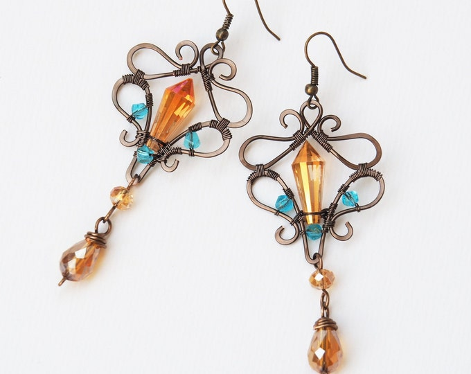 Long vintage earrings