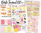 Sale! Bible Journal Kit (Set 1) BOTH Printable & Digital Kits. PDFs to Print on Sticker Paper or PNG Drag and Drop in Image Editor  (PSE)