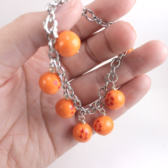 Anime inspired Dragon Ball Z charm bracelet