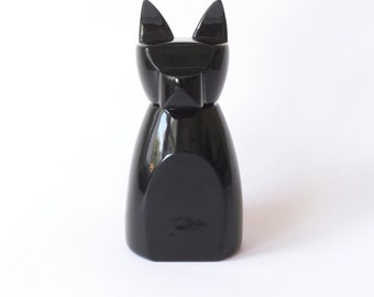 Large Anbuis Dog Urn -  Gloss Black