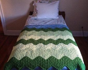 Tonal Crochet Ripple Afghan