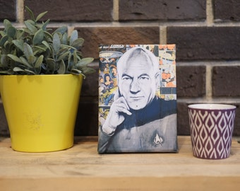 Mini Canvas of Captain Jean Luc Picard from Star Trek the Next Generation